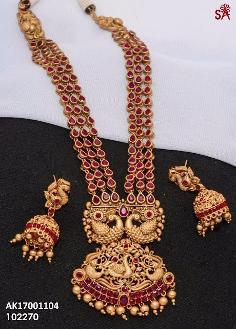 Exclusive Ruby Sets Buy Online 1 Gram Gold Jewelry 1 Gram Gold Jewellery Gold Necklace Indian Bridal Jewelry Gold Jewelry Fashion