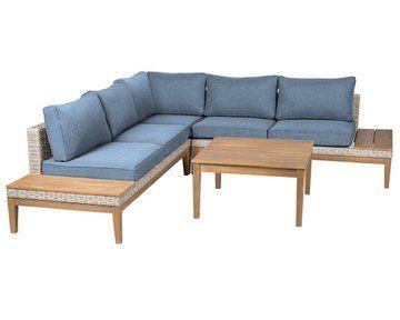 Lounge Gruppe Hamerson Heaven Polyrattan Eukalyptus 4 Tlg Kaufen Bei Obi Lounge Mobel Polyrattan Zweisitzer Sofa