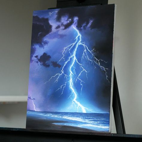 Stay Creative Painting with Ryan O'Rourke Simple Canvas Paintings, Easy Canvas Art, Small Canvas Art, Dark Art Paintings, Black Canvas Art, Nature Paintings, Sky Painting, Acrylic Painting Canvas, Drawing On Canvas
