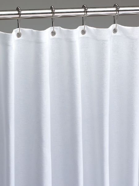 Cotton Duck Shower Curtain In 2 Sizes Fabric Shower Curtains