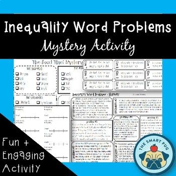 Inequality Word Problems Mystery Food Thief Activity Inequality Word Problems Word Problems Solving Inequalities