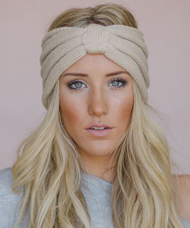 Look at this  zulilyfind! Oatmeal Ribbed Knit Headband - Women by ... f68d8f3dfb4