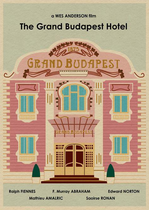 El GRAND HOTEL BUDAPEST 16 x 12 Wes Anderson por MonsterGallery