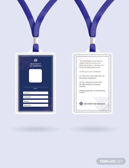 Blank Id Card Template Free Pdf Word Apple Pages Publisher Id Card Template Card Templates Free Blank Id Cards