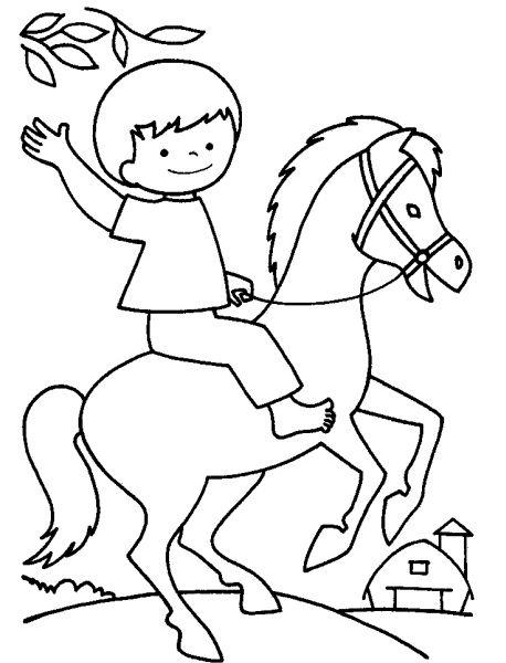 Disegni Da Colorare Facili Bambino A Cavallo Ricerca Google Disegni Da Colorare Disegni Disegni Facili
