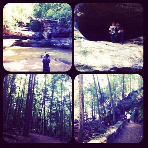 Old Man's Cave in Hocking Hills photo by @marishabreanne