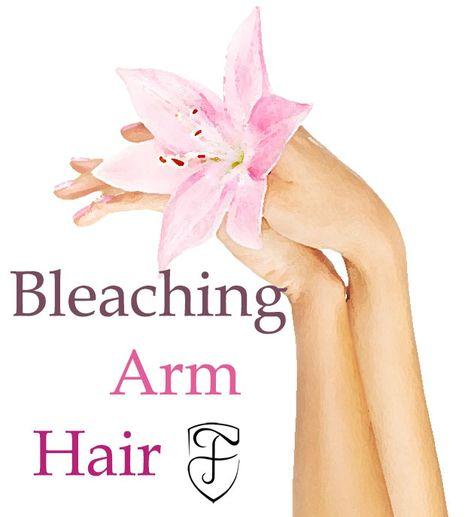 How to Bleach Arm Hair  #beauty #skincare