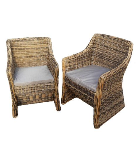Sumatra Wicker Chair PK 2, Garden Furniture, Garden Chairs, Cheap, Clearance  | Wicker Chairs, Garden Furniture And Gardens