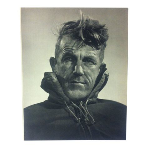 Sir Edmund Hillary - New Zealand mountaineer, explorer and philanthropist. The man to conquer Mt. Everest - by Yousuf Karsh