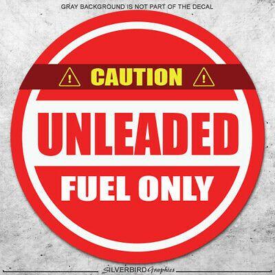 4 x UNLEADED Stickers Fuel Printed Vinyl Label