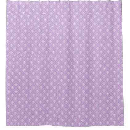Purple Flowers Shower Curtain Zazzle Com Flower Shower Curtain Flower Shower Custom Shower Curtains