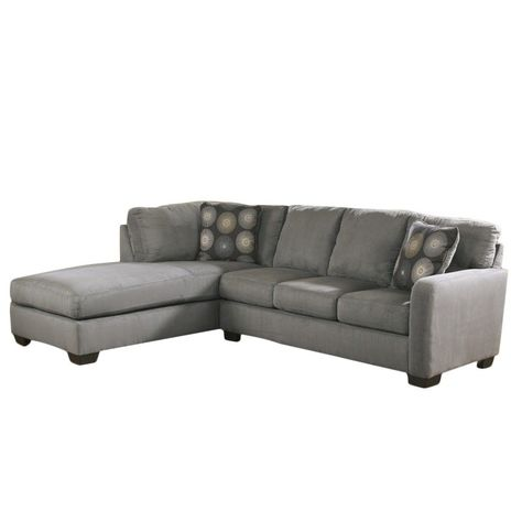 Awe Inspiring Ashley Furniture Zella Microfiber Sofa Sectional In Charcoal Interior Design Ideas Ghosoteloinfo