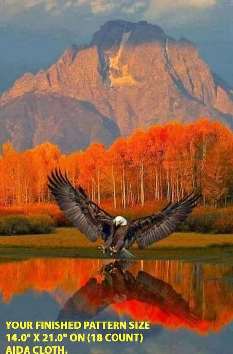 Autum Eagle Cross Stitch PatternLOOK INSTANT image 1