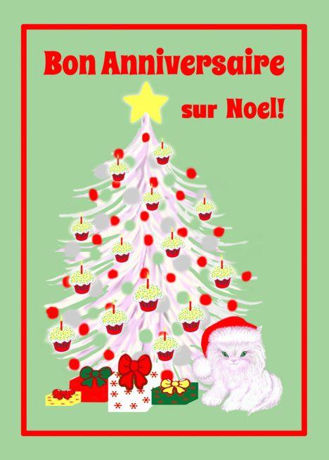French Birthday On Christmas White Cat In Santa Hat Card Ad Sponsored Christmas White Fr Holiday Greeting Cards Christmas Greetings Holiday Greetings