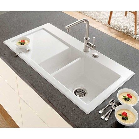 Villeroy & Boch Subway 60XR Alpine White Ceramic 1.5 Bowl Kitchen ...