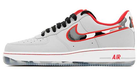 official photos b1f51 5f500 NIKE AIR FORCE 1 LOW  WOLF GREY HYPER RED  488298-022