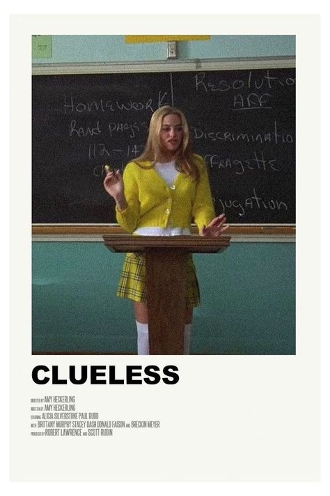 clueless minimalist poster