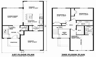 Image Result For 2 Story House With Balcony Two Story House Plans Minecraft Modern House Blueprints Architectural Floor Plans