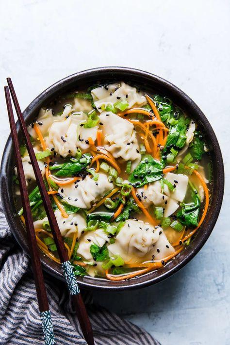 Easy Dumpling Soup (Potsticker Soup)   The Modern Proper