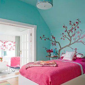 Habitaciones Juveniles Modernas 50 Fotos E Ideas De Decoracion Brico Y Deco Turquoise Room Girl Bedroom Decor Bedroom Trends