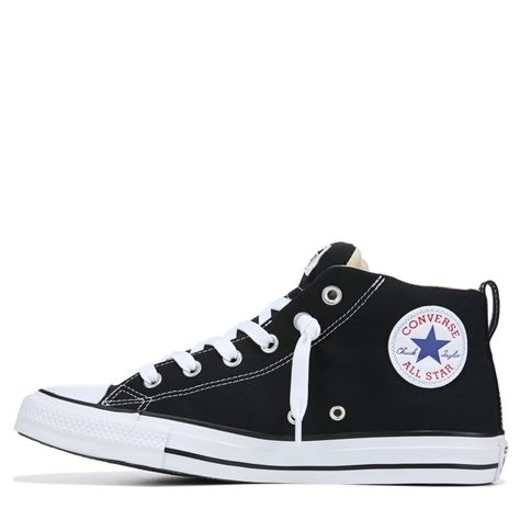 a68f0e833f2 Converse Men s Chuck Taylor All Star Street Mid Top Leather Sneakers  (Black White)
