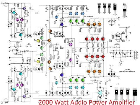 Power Amplifier 2000 Watt Circuit Diagrams - Wiring Schematics on