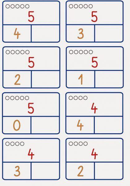 Math Worksheets, Math Activities, Number Bonds Worksheets, Kindergarten Math, Preschool, Montessori Math, Math For Kids, Ms Gs, Numeracy
