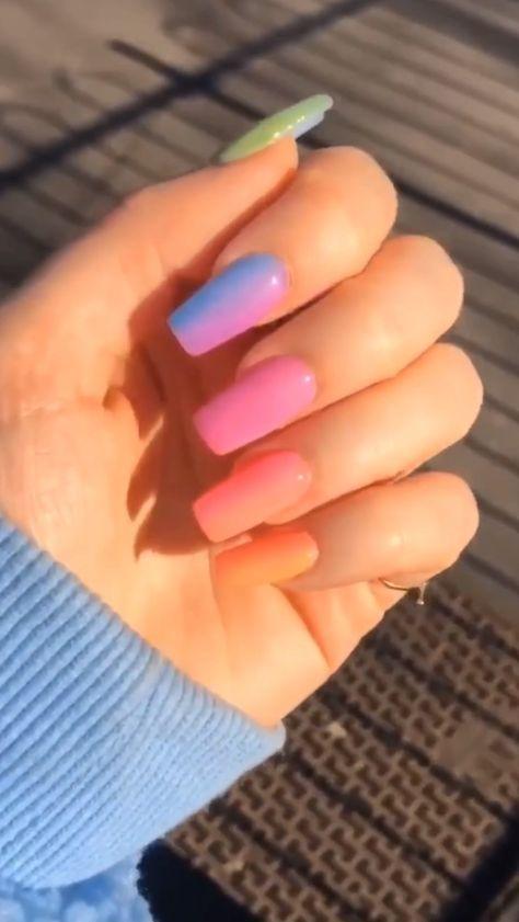 𝔉𝔬𝔩𝔩𝔬𝔴 @Kayxo36 𝔣𝔬𝔯 𝔪𝔬𝔯𝔢🌈💫 #rainbownails #colorfulnails #pride #coolnails #aesthetic #vsco #nails #coffinnails #coffinnailsdesigns #nailart #gelnails #nailstagram #nailartist #nailaddict #acrylicnailscoffin #aestheticart #followforfollowback