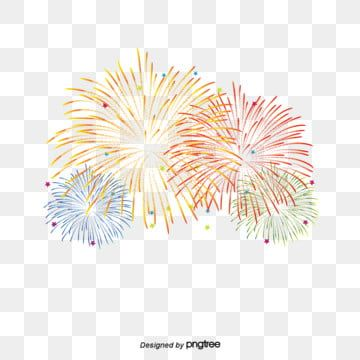 White Transparent Background Fireworks Gif Pengeditan Foto