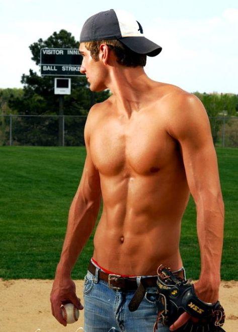 Oh baseball players.....♥