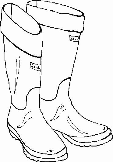 Rain Boots Coloring Page Elegant Rain Boots Drawing At Getdrawings