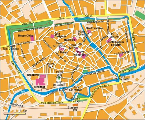 Karte Von Treviso Karten Und Norditalien