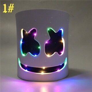 Marshmello Music Festival Bar props LED Light up Head Mask Fortnite Game Costume