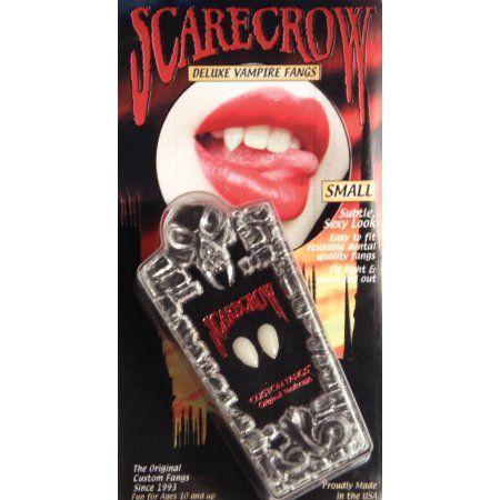 Creepy Deluxe Scarecrow Vampire Fangs Small Teeth Zombie Halloween Party Costume