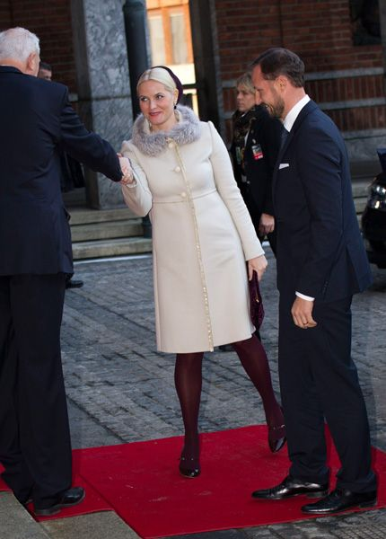 November 2012 - Mette-Marit and Haakon attend the Nobel Peace aprire ceremony at the Oslo City Hall
