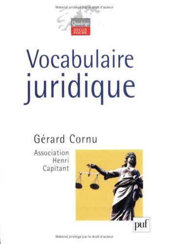 CORNU TÉLÉCHARGER VOCABULAIRE JURIDIQUE