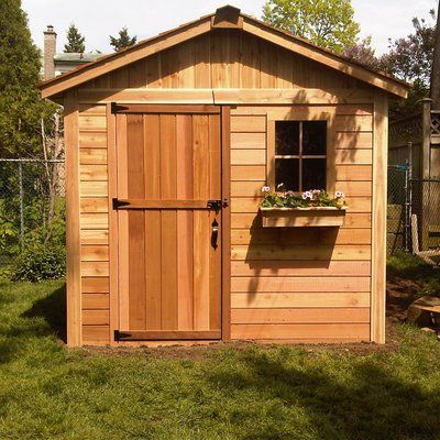 Outdoor Living Today Gardener 8 Ft W X 8 Ft D Wooden Storage Shed Wooden Storage Sheds Pallet Furniture Outdoor Shed