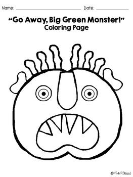 Green Monster Coloring Pages Big Green Monster Green Monsters