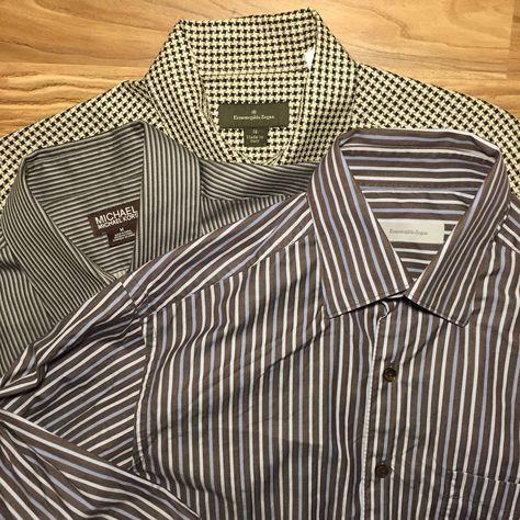 eeb1e529ad7 Medium Designer Shirt Bundle - 2 Zegna 1 Michael Kors - Long Sleeved Button  Down #fashion #clothing #shoes #accessories #mensclothing #shirts (ebay  link)