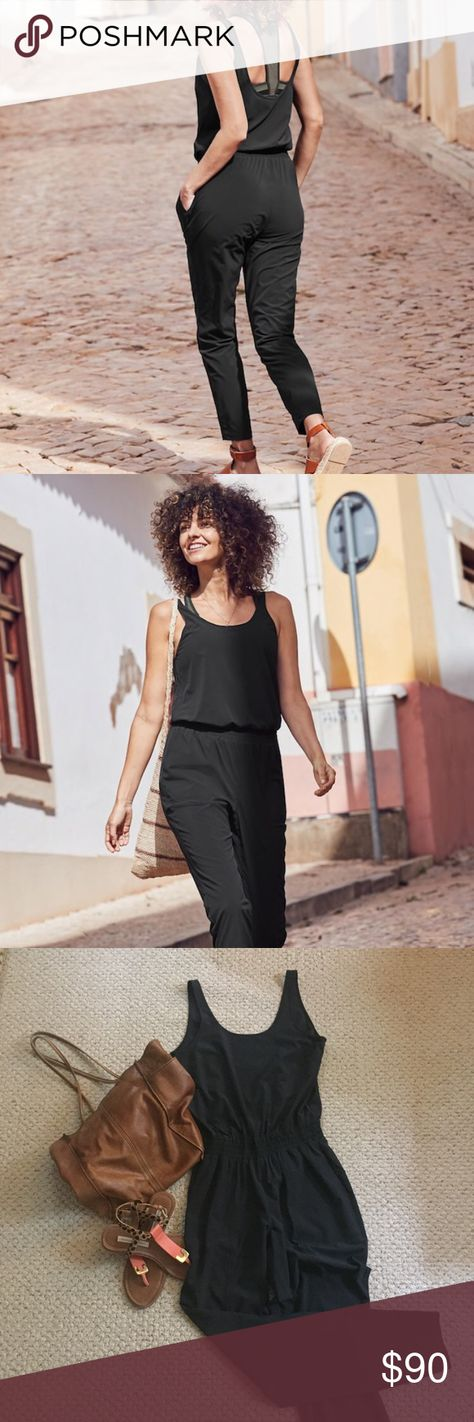 e49066edc27 Athleta Roaming Romper Black Jumpsuit Athleta Roaming Romper Jumpsuit SOLD  OUT! So comfortable! Great