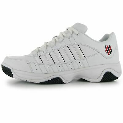 K Swiss Court Blast Mens Tennis Shoes Trainers White Black Sports Footwear In 2020 Mens Tennis Shoes Tennis Shoes Sports Footwear