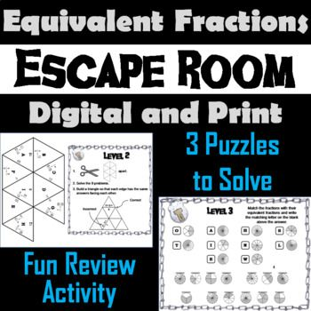 Equivalent Fractions Escape Room Math Activity Factors And Multiples Order Of Operations Simplifying Radical Expressions