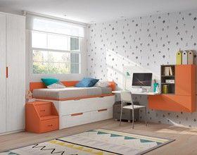 Juvenil Camas Compactas Habitaciones Juveniles Dormitorios Decoracion De Recamaras Juveniles