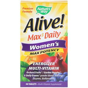 Nature S Way Alive Max3 Daily Women S Multivitamin 90 Tablets Whole Food Recipes Multivitamin Supplements Nutrition