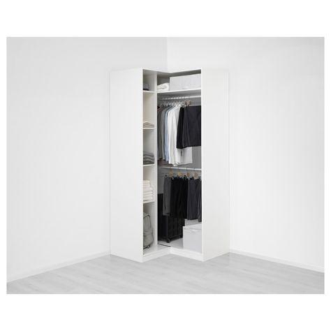 Guardaroba Ikea Pax.Ikea Pax White Grimo White Corner Wardrobe Arredamento