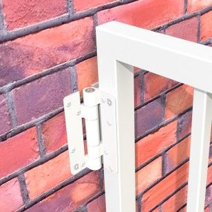 Aluminum Adjustable Self Closing Gate Hinge Wall Or Post Mounted Pair With Screws White Gate Hinges Aluminum Hinges Aluminium Gates