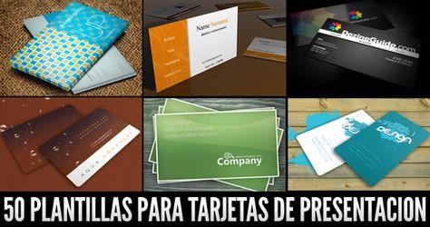 50 plantillas para tarjetas de negocios