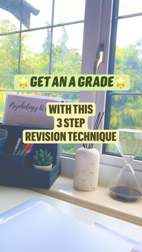 GET AN A GRADE USING THIS FUN 3 STEP REVISION TECHNIQUE! Perfect your study habits