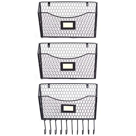 3 Pack Wall Mounted File Holder Hanging Mesh Metal Basket Https Www Amazon Com Dp B07q7y9l2c Ref Cm Sw R Pi Dp U X 7b Metal Baskets File Holder Rack Shelf
