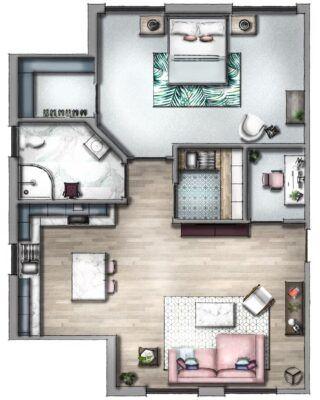 Expert Tips On How To Create A Professional Floor Plan Sketchup Hub Rendered Floor Plan Architectural Floor Plans Create Floor Plan